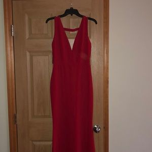 Red ball floor length gown